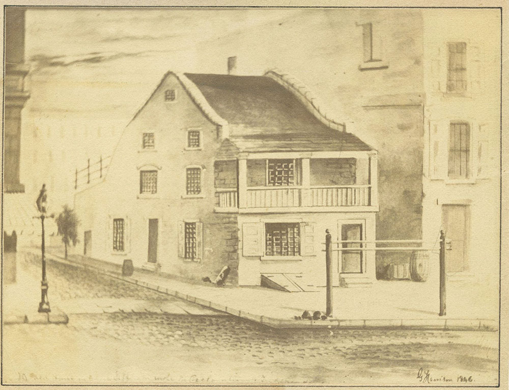 Tavern. West side of 5th Street. North of Chestnut Street