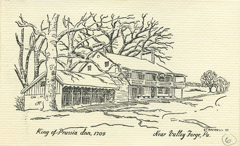 King of Prussia Inn, 1709