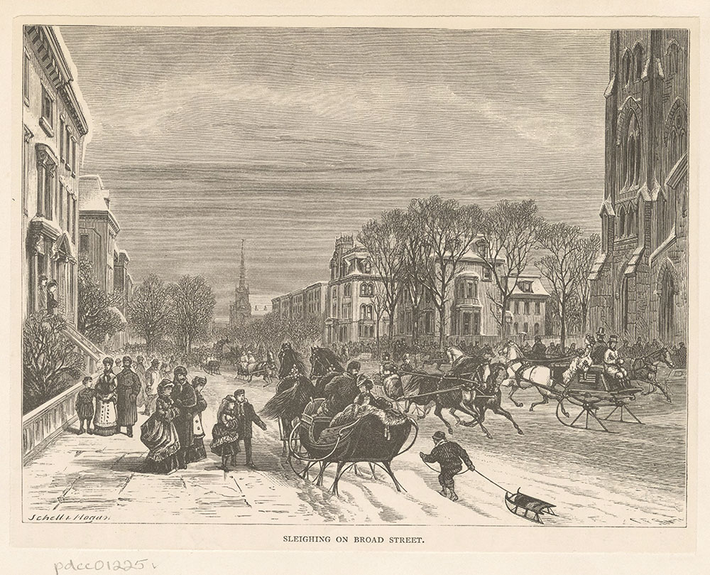 Sleighing on Broad Street