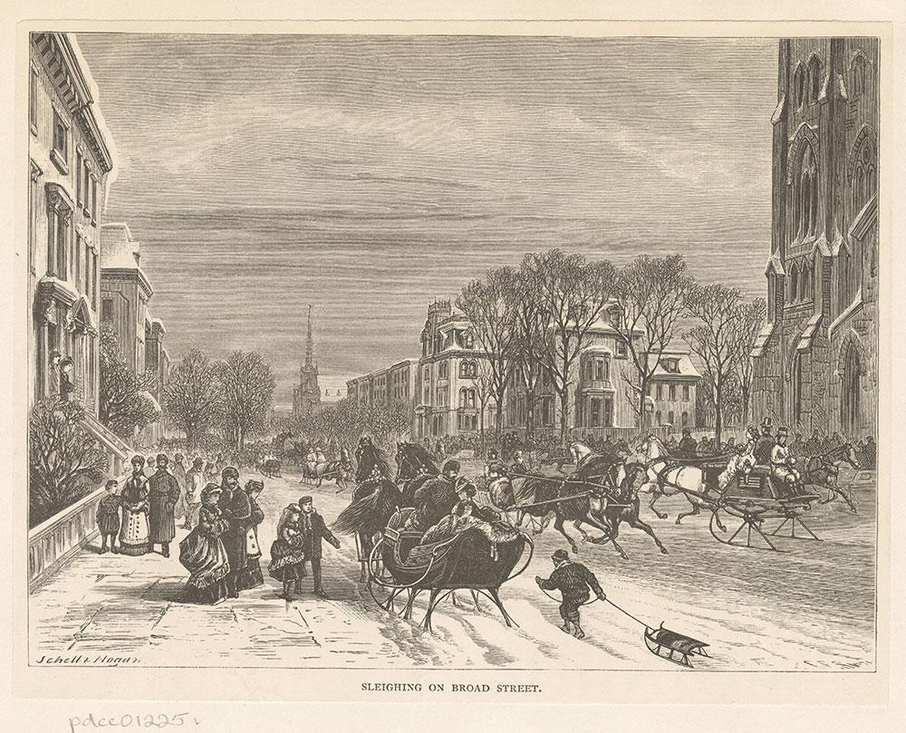 Sleighing on Broad Street
