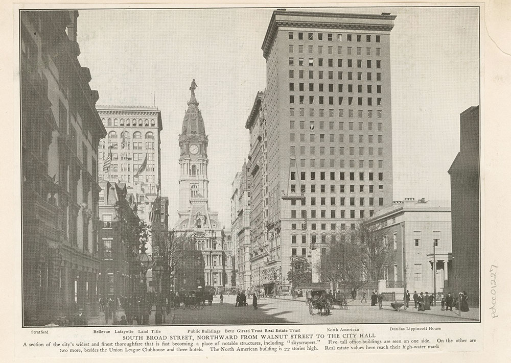 South Broad Street, Northward from Walnut Street to the City Hall.