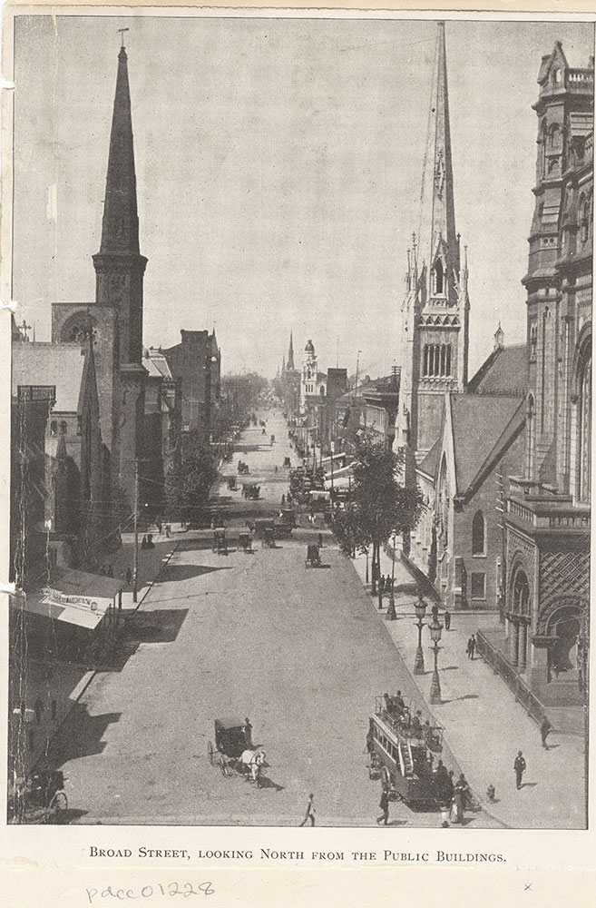 Broad Street, Looking North from the Public Buildings.