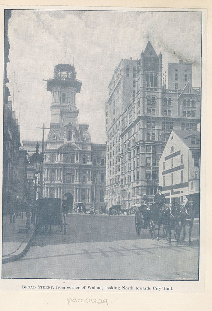 Broad Street, from corner of Walnut, looking North towards City Hall.