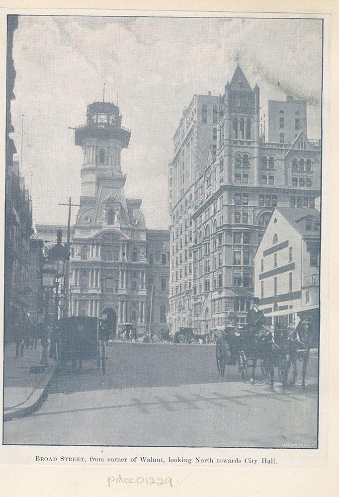 Broad Street, from corner of Walnut, looking North towards City Hall.