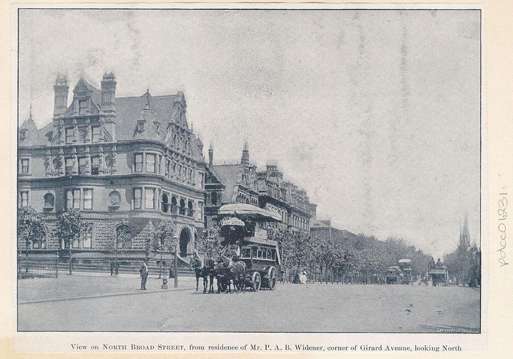 North Broad Street, Corner of Girard Avenue, Looking North.