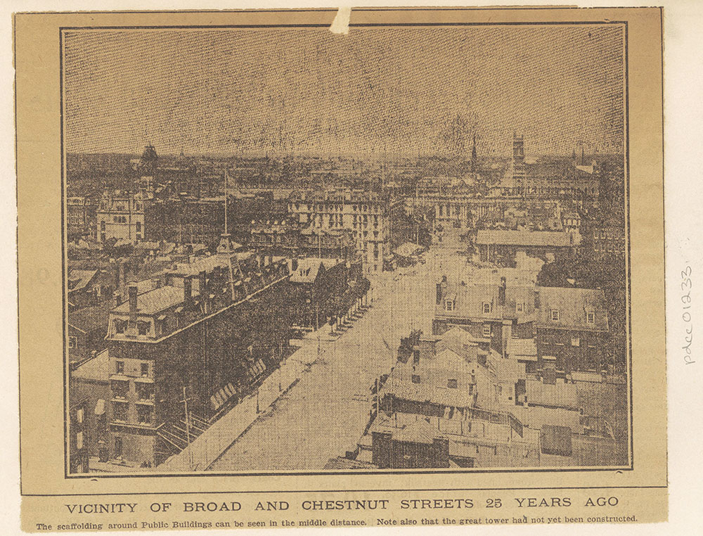 Broad Street looking towards Chestnut - Elevated View