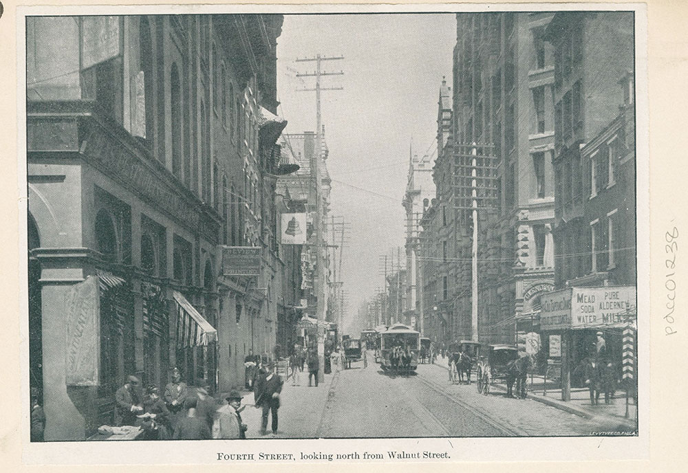 Fourth Street, looking north from Walnut Street.