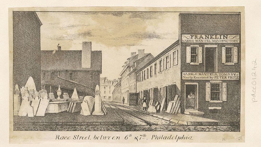 Race Street between 6th & 7th. Philadelphia.