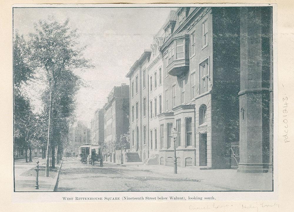 West Rittenhouse Square. (Nineteenth Street below Walnut.) looking south.