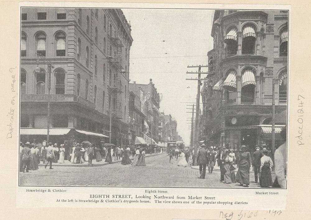 Eighth Street, Looking Northward from Market Street.