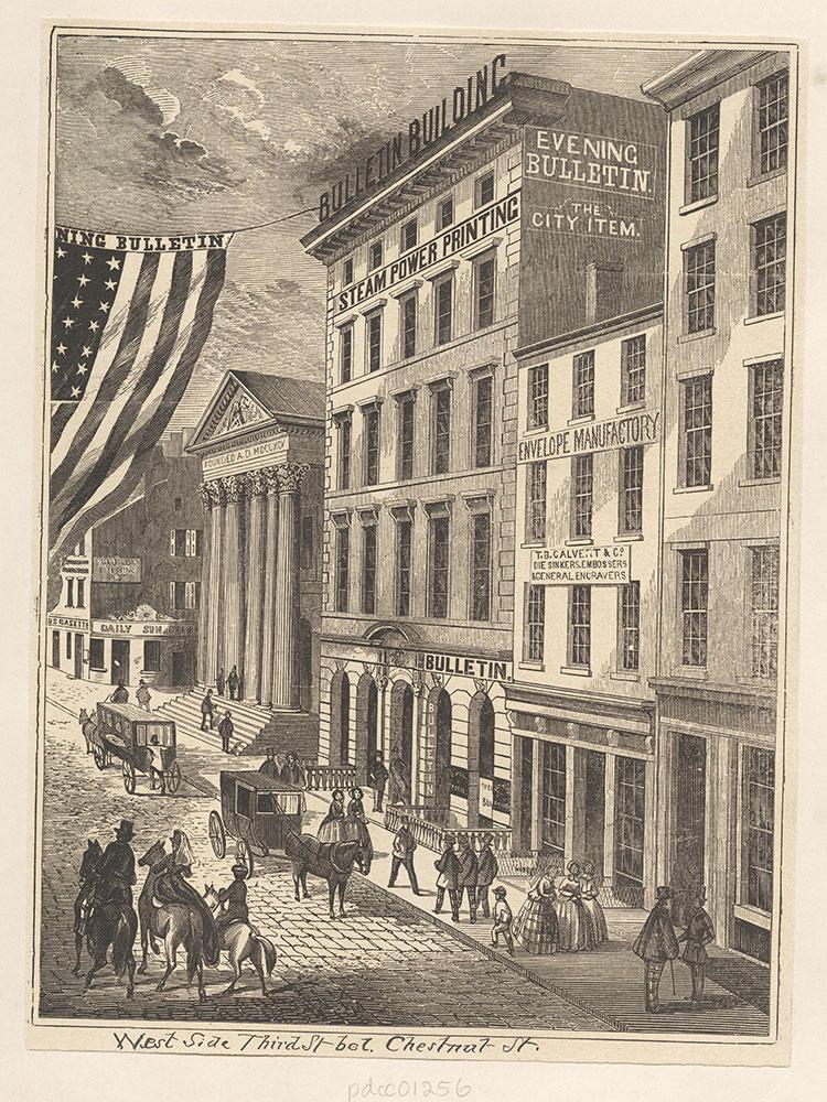 Third Street below Chestnut Street. West Side.