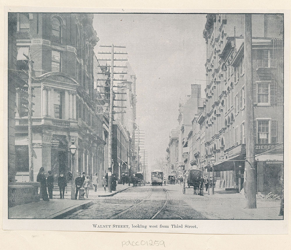 Walnut Street, looking west from Third Street.