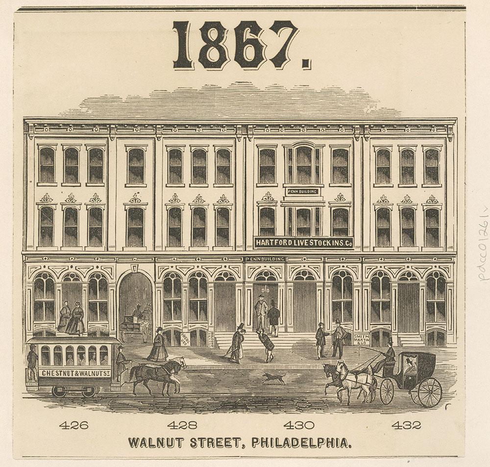 Walnut Street, 1867. Philadelphia.