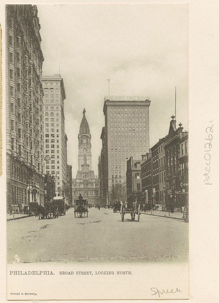 Broad Street, Looking North from Spruce Street.
