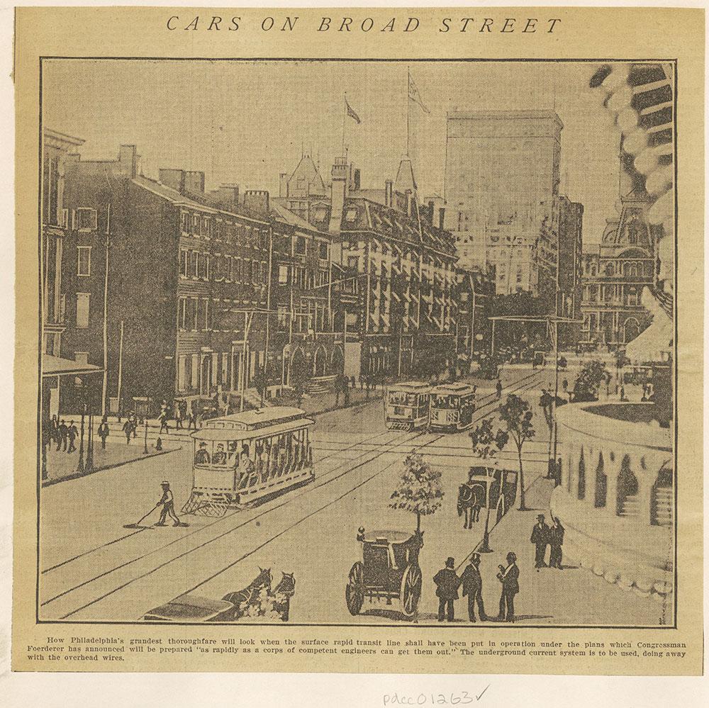 Cars on Broad Street