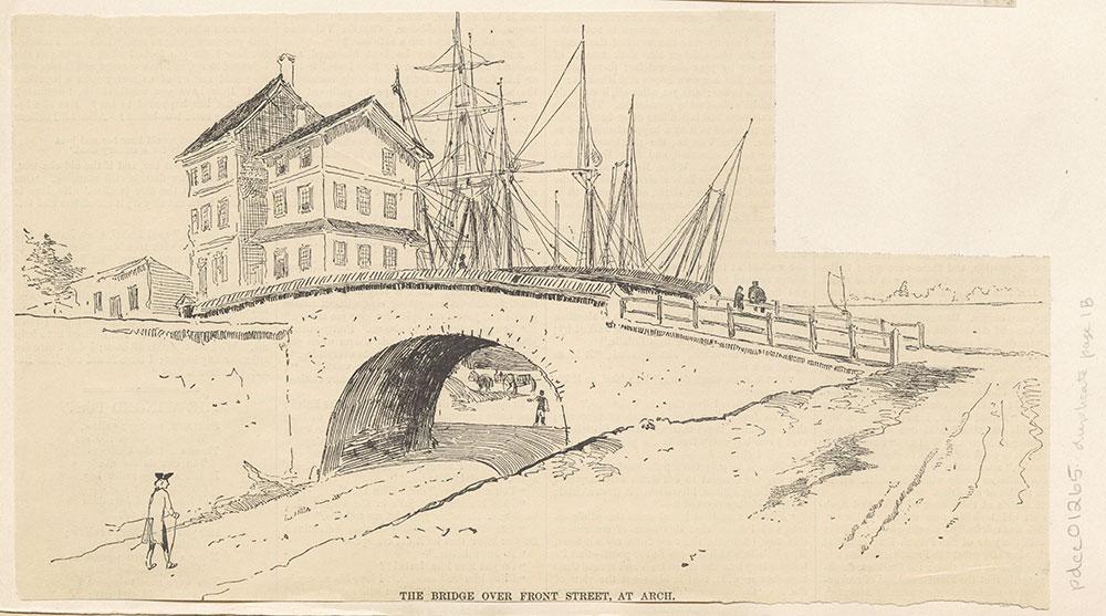 Arch Street Bridge over Front Street.