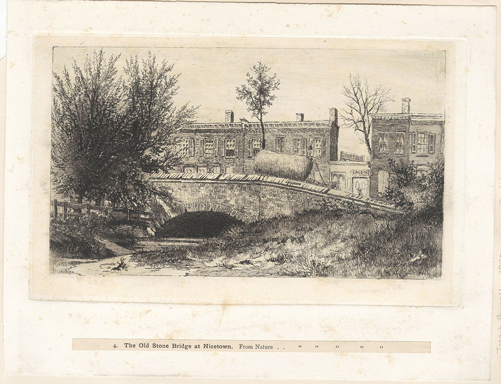 The Old Stone Bridge at Nicetown.