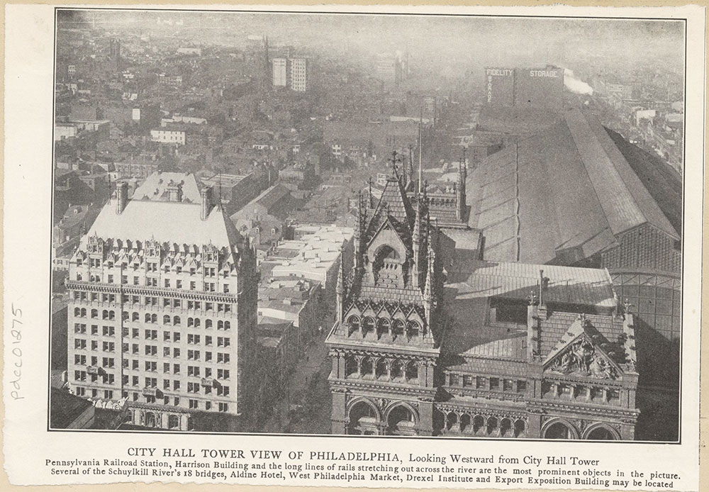 View of Philadelphia from City Hall Tower.