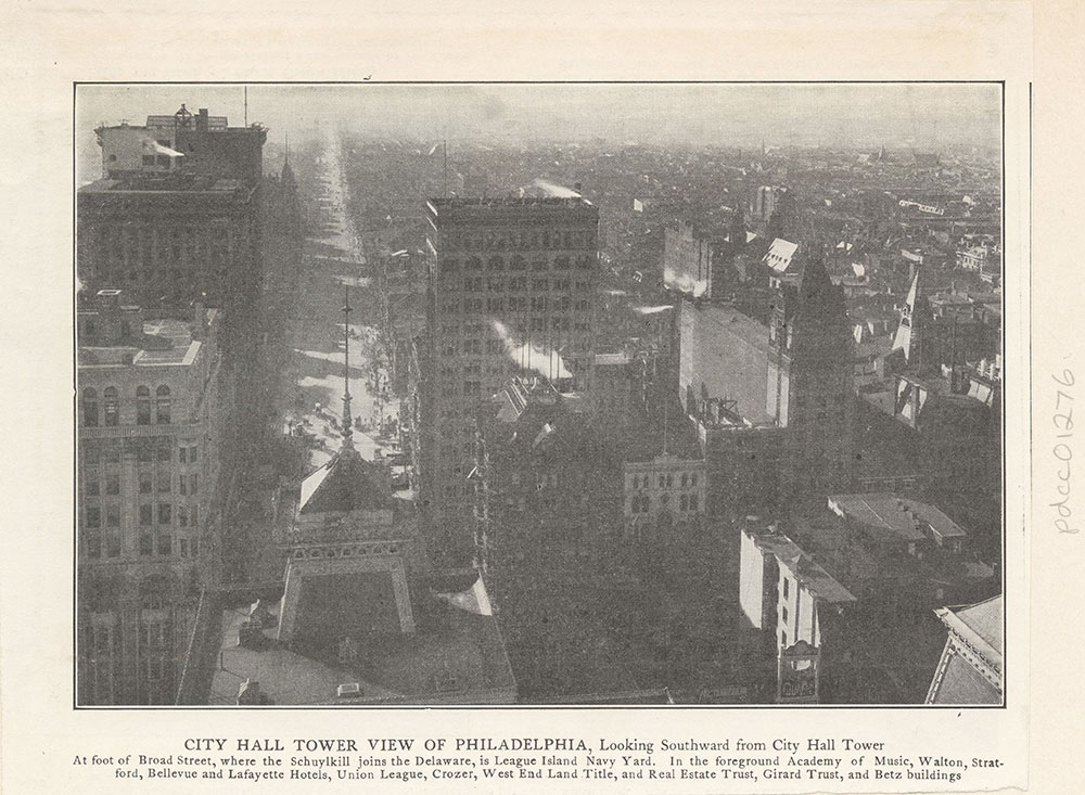City Hall Tower View of Philadelphia,