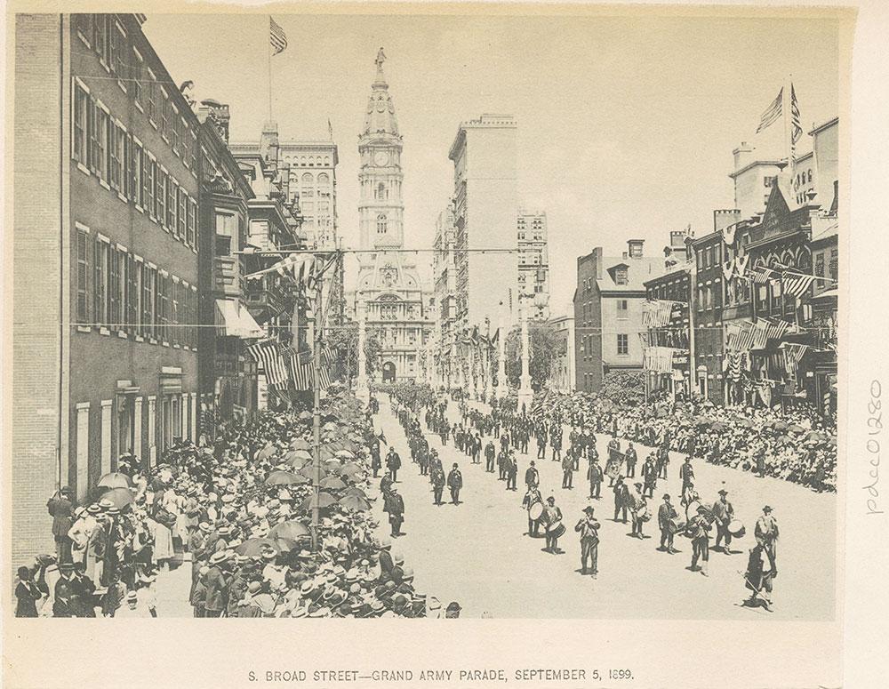 S. Broad Street - Grand Army Parade, September 5, 1899.