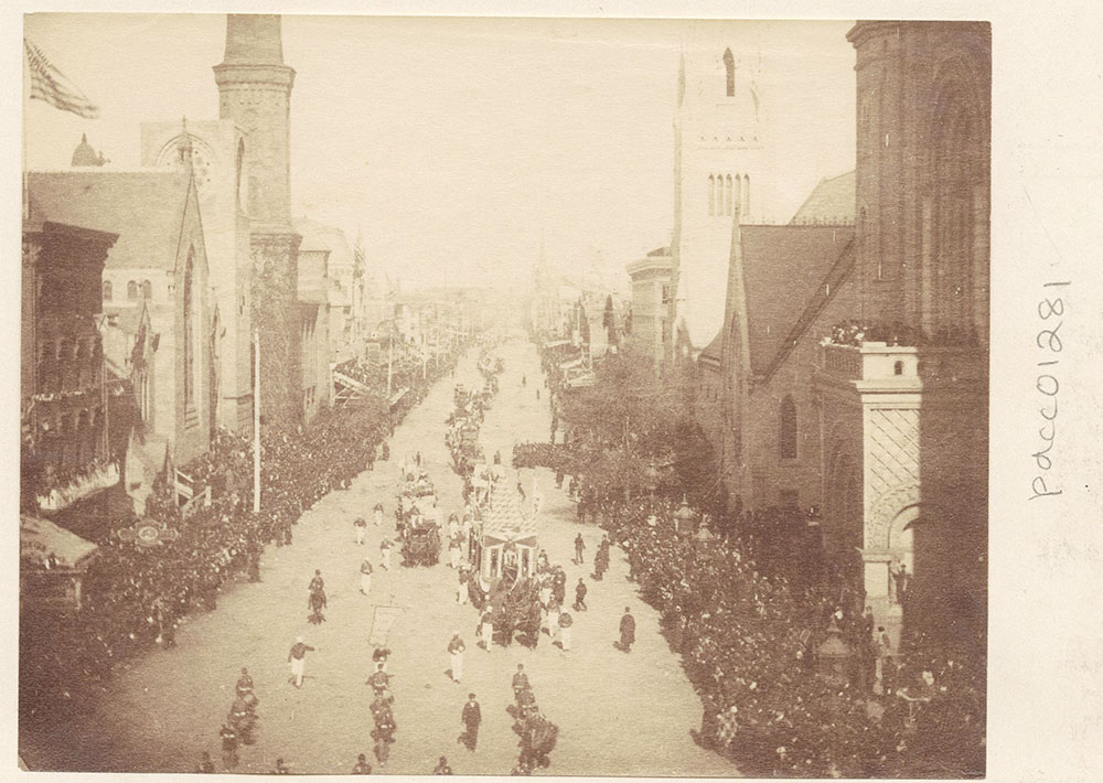 Broad Street, looking north from City Hall.