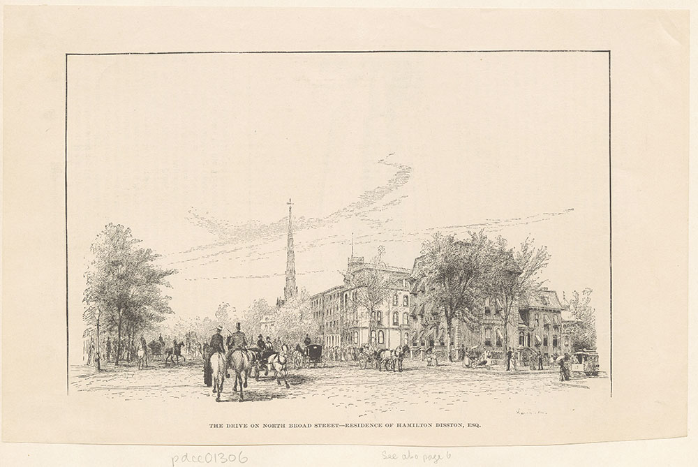 The Drive on North Broad Street - Residence of Hamilton Disston, Esq.