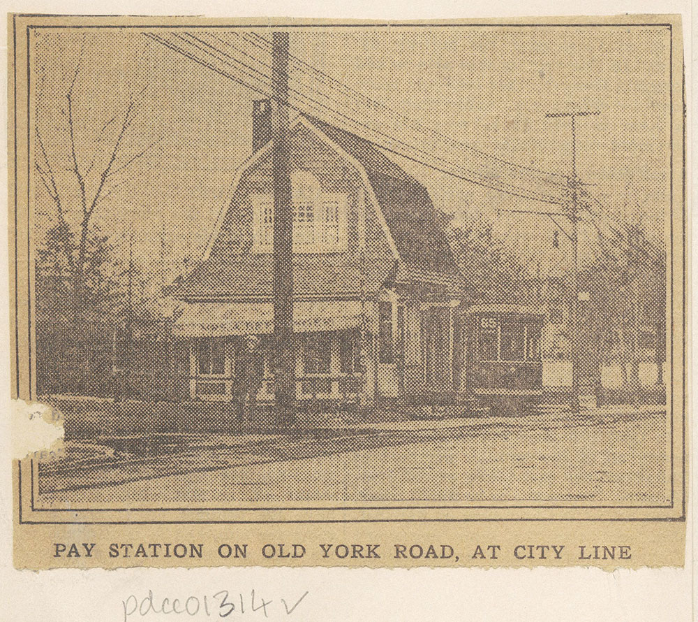 Pay Station on Old York Road, at City Line