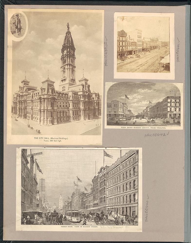 Castner Scrapbook v.6, Market Street, (inside front cover)