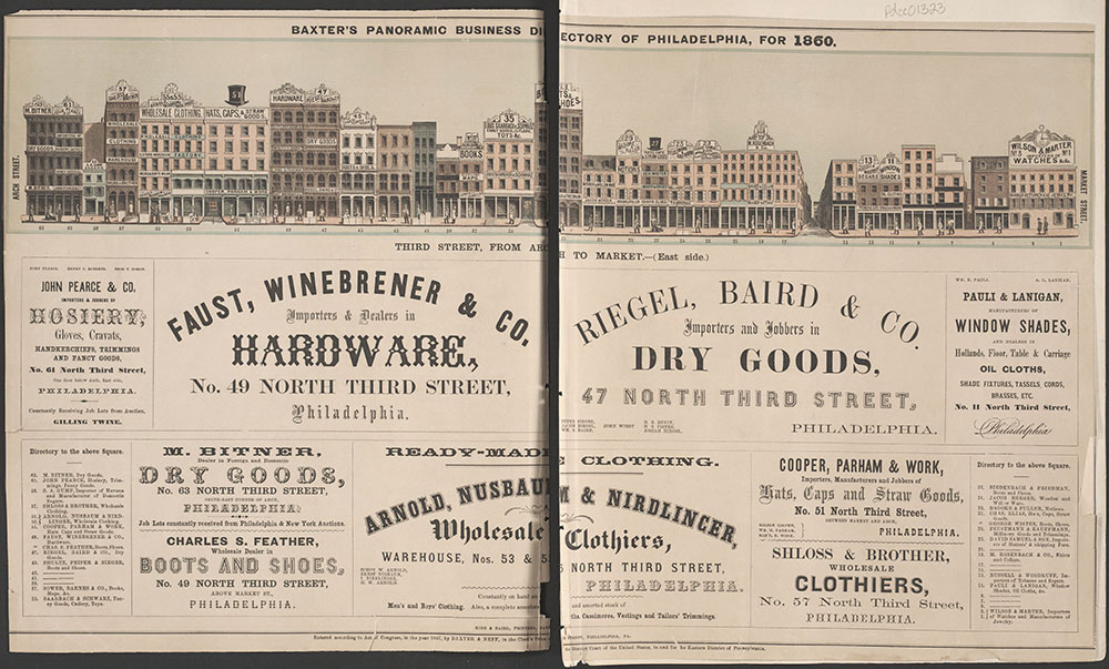 Baxter's Panoramic Business Directory of Philadelphia, for 1860.
