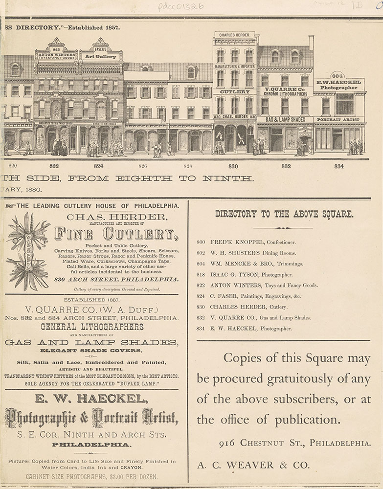 Baxter's Panoramic Business Directory, 1880.