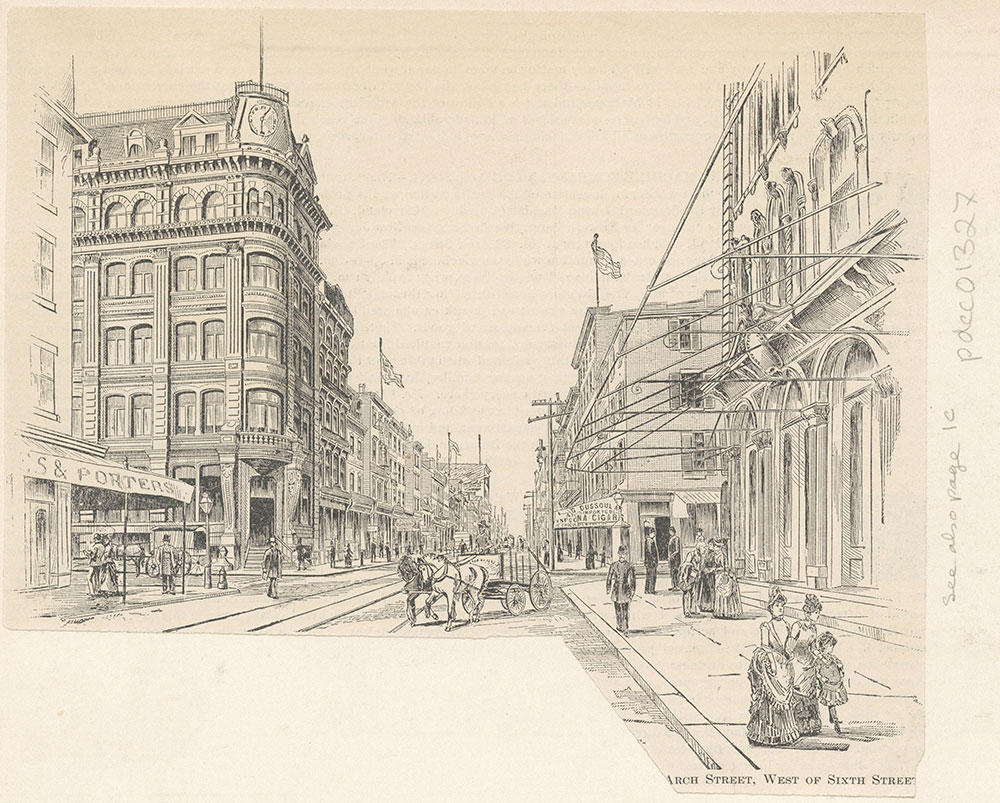 Arch Street west of Sixth Street.