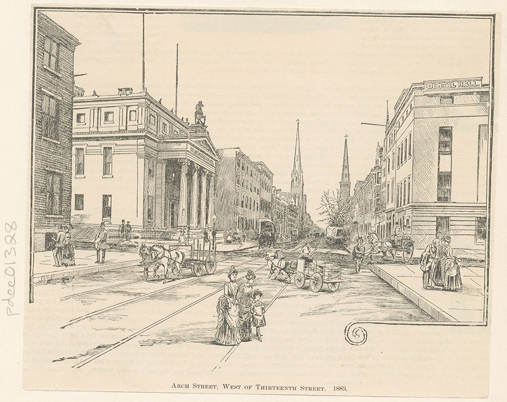 Arch Street, West of Thirteenth Street, 1889.