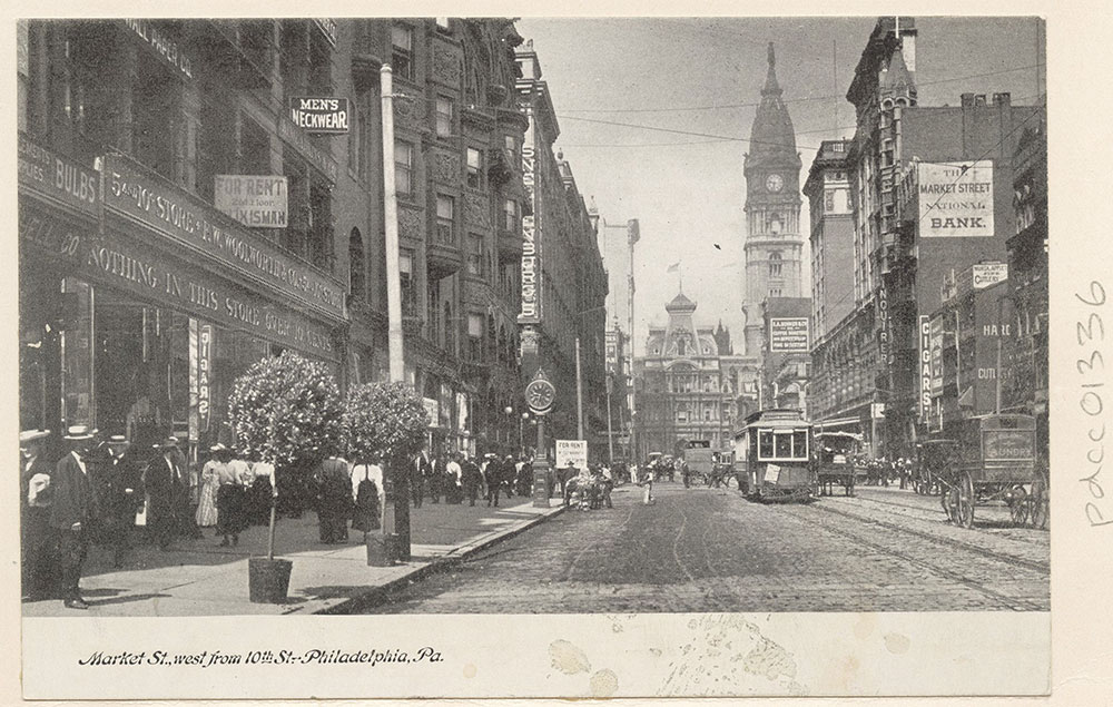 Market Street, west from 10th. St.