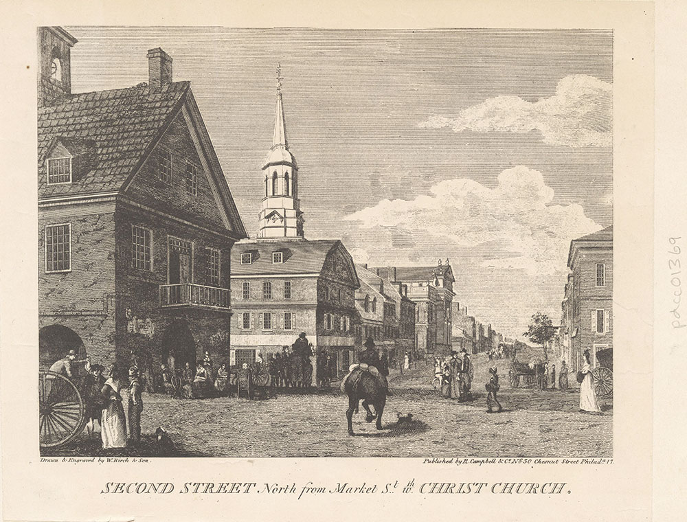 Second Street North from Market Street with Christ Church.