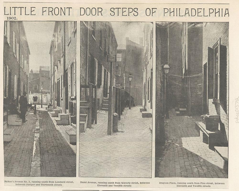 Little Front Door Steps of Philadelphia. 1902
