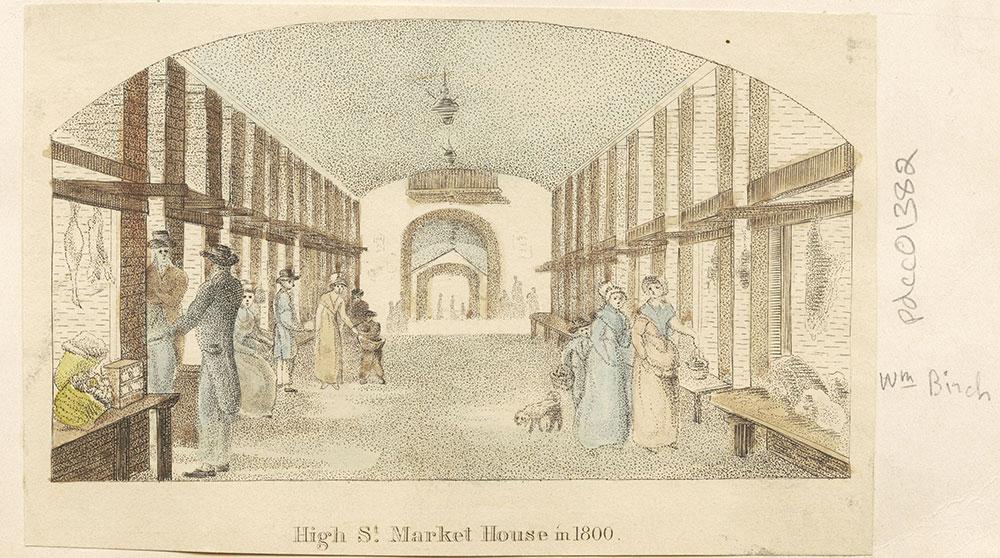 High Street Market House in 1800