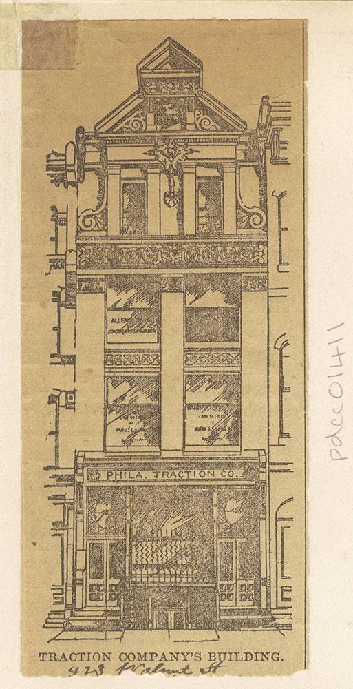 Philadelphia Traction Company's Building [Graphic], 423 Walnut Street
