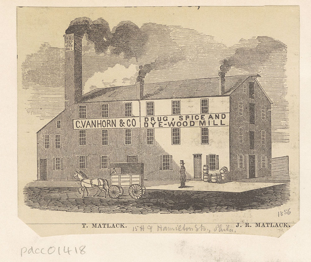 [Matlack's drug and spice mill.]  [Graphic]