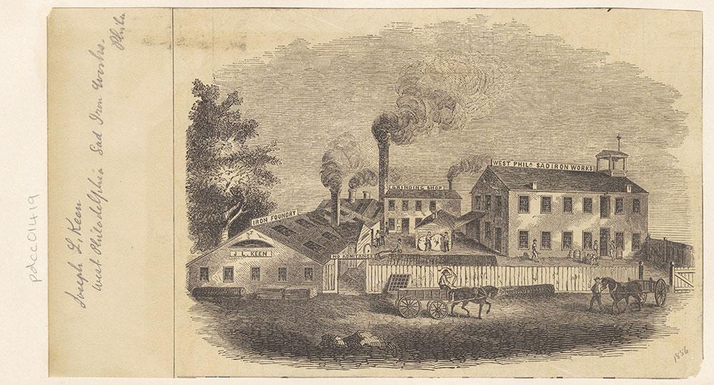 West Philadelphia Sad Iron Works. [Graphic]