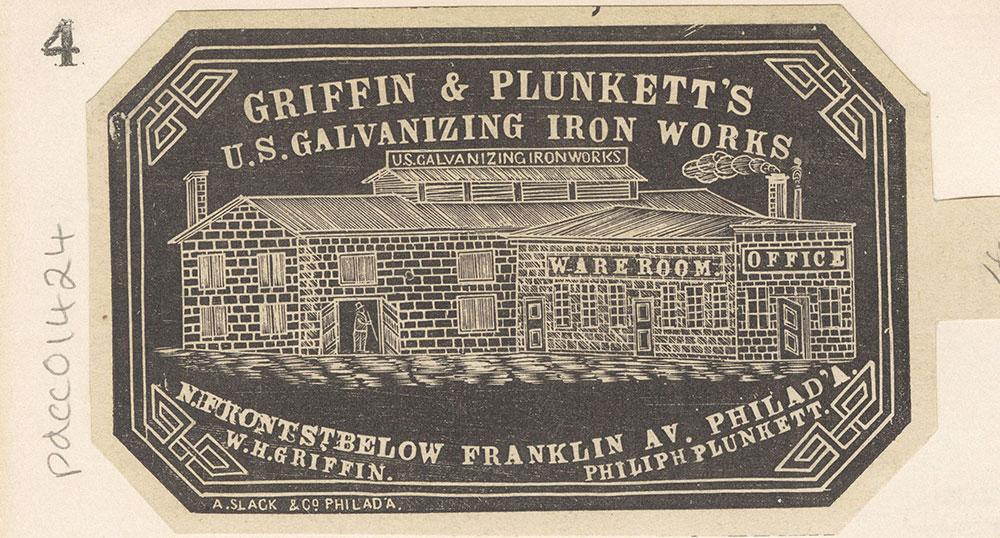 Griffin & Plunkett's U. S. Galvanizing Iron Works [Graphic]