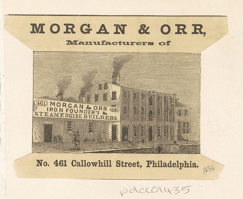Morgan & Orr, iron founder's & steam engine builders of No. 461 Callowhill Street, Philadelphia [graphic]