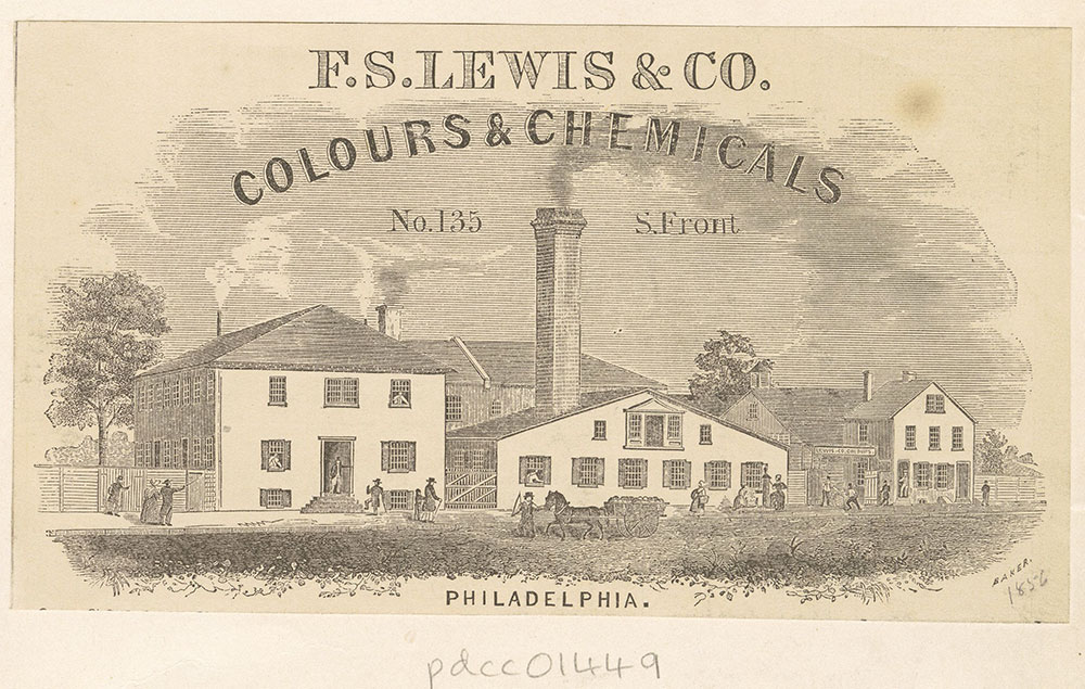 F. S. Lewis & Co. colours & chemicals. No. 135 S. Front St. [graphic]