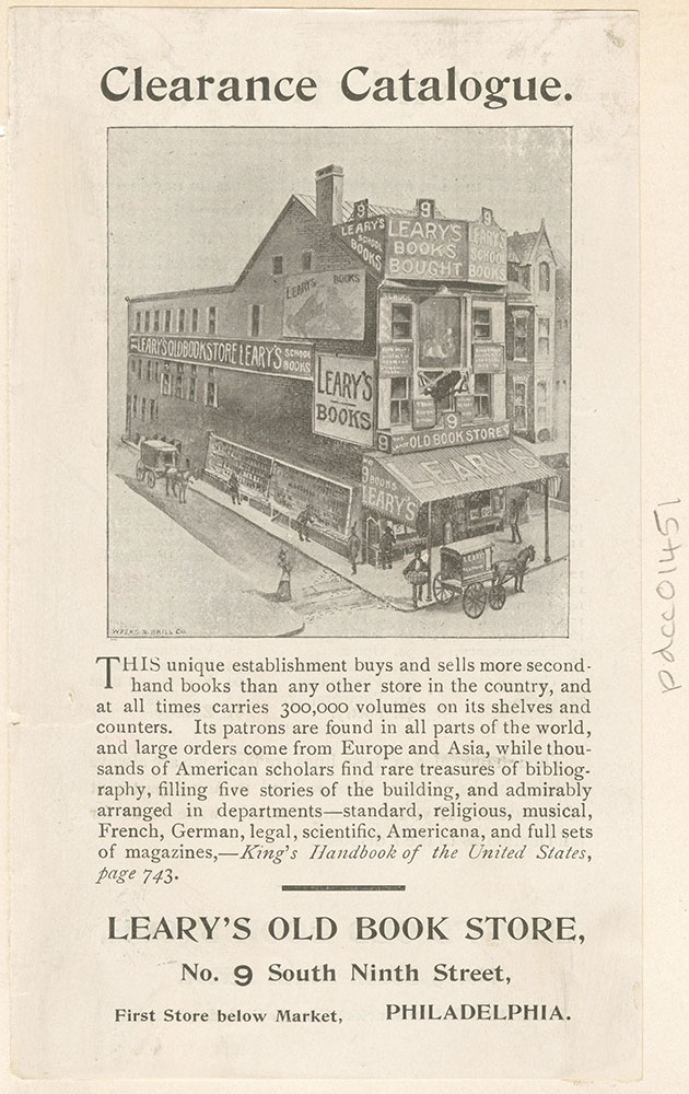 Leary's Old Book Store [graphic]