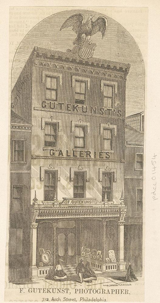 F. Gutenkunst, Photographer, 712 Arch Street, Philadelphia [graphic]
