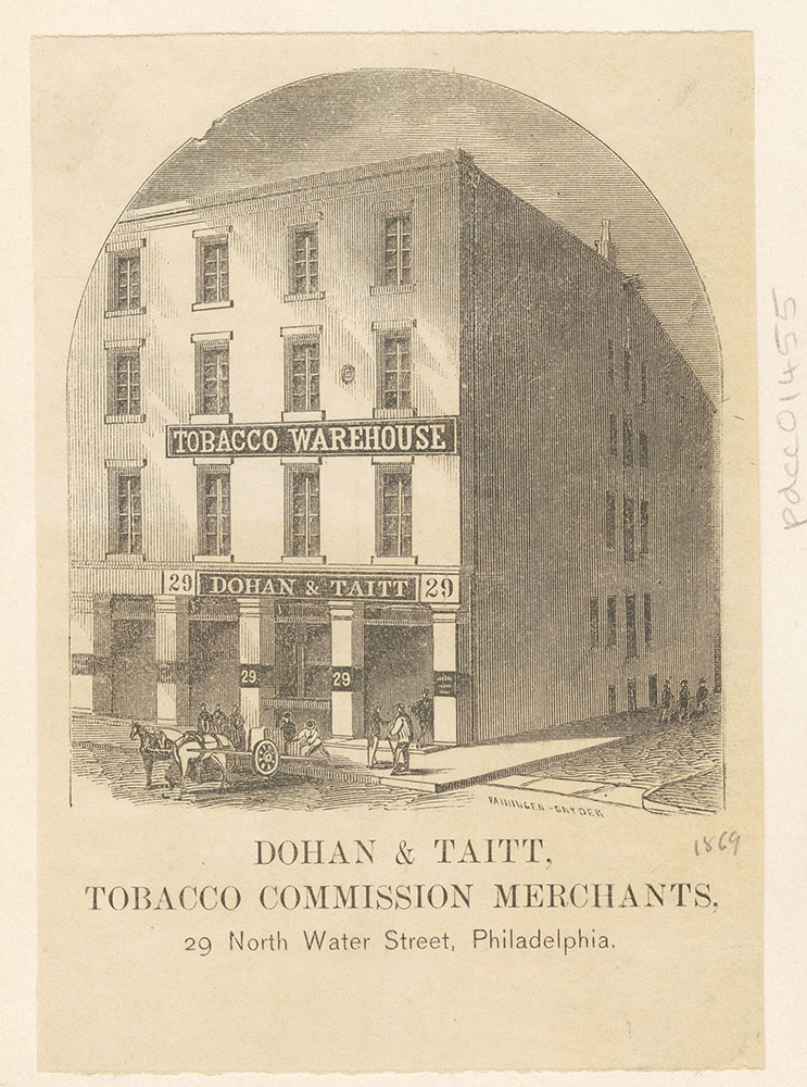 Dohan & Taitt, tobacco commission merchants, 29 North Water Street, Philadelphia [graphic]