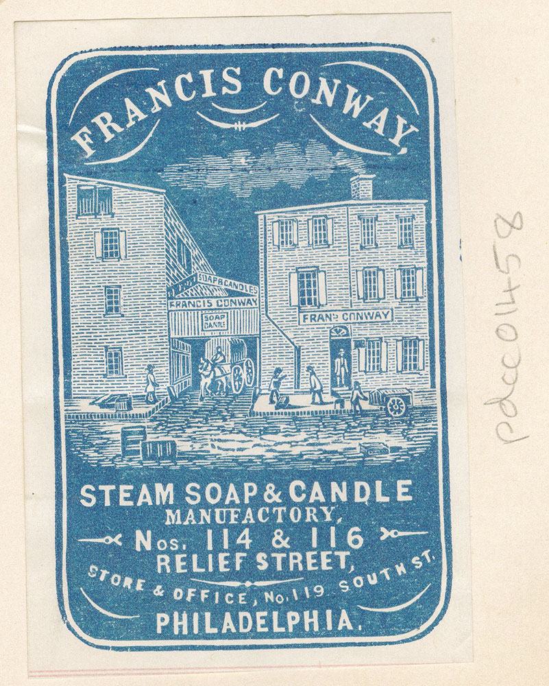 Francis Conway, steam soap & candle manufactory, 114 & 116 Relief Street [graphic]