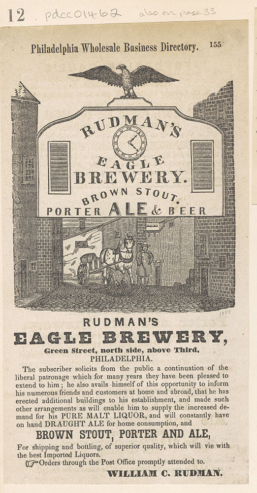 Rudman's Eagle Brewery [graphic]