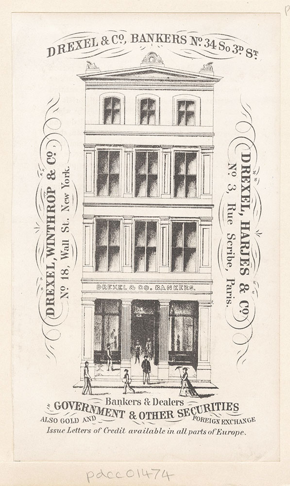 Drexel & Co., Bankers No.34 So 3rd St. [graphic]