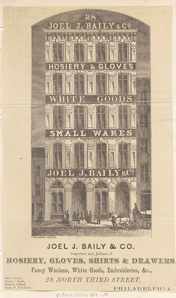 Joel J. Baily & Co., importers and jobbers, hosiery, notions, furnishing goods, etc. [graphic]