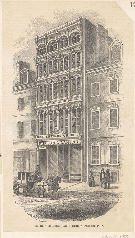 New Iron Building, Arch Street, Philadelphia. [Robt. E. Peterson & Co Publishers] [graphic]